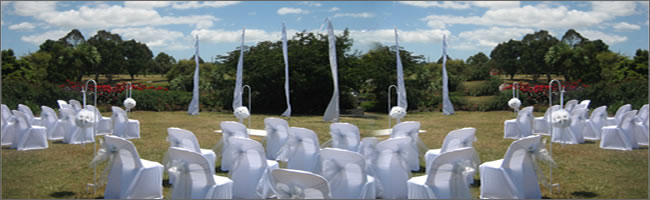 Outdoor wedding at Auckland Botantial Gardens, Manurewa