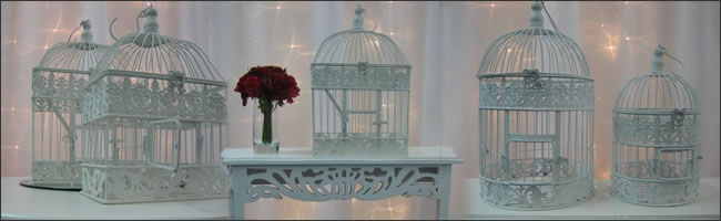 Birdcages for hire. outdoor weddings, Auckland