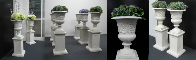 Pillars and urns for hire, Auckland
