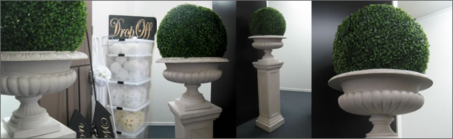 Topiary balls for hire, Wedding aisle style