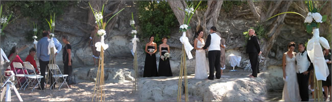 Hire bamboo teepees for your wedding